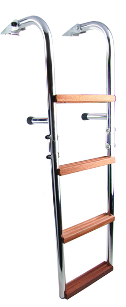 Folding ladder (cod. 01.704) - Ladders Nautical accessories