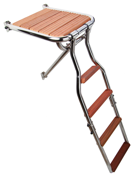 Transom platform with folding ladder (cod. 01.702) - Gangplanks Nautical accessories